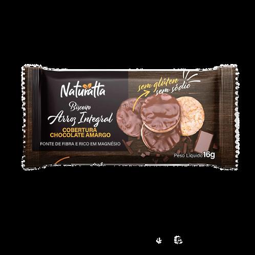 Biscoito de Arroz Integral com Chocolate Amargo