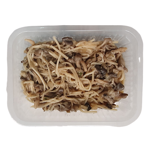 Espaguete de pupunha com shimeji