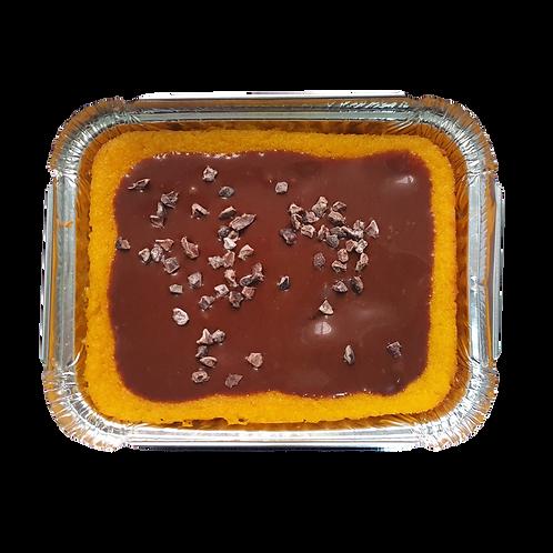Bolo low carb de cenoura com chocolate