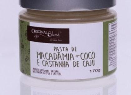 Pasta de macadâmia + coco e castanha de caju