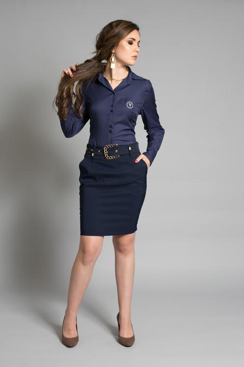 camisa feminina vip new e saia alfaiataria plus. Black Bedroom Furniture Sets. Home Design Ideas