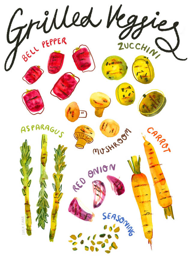lorincinar_watercolour_grilled_vegetable