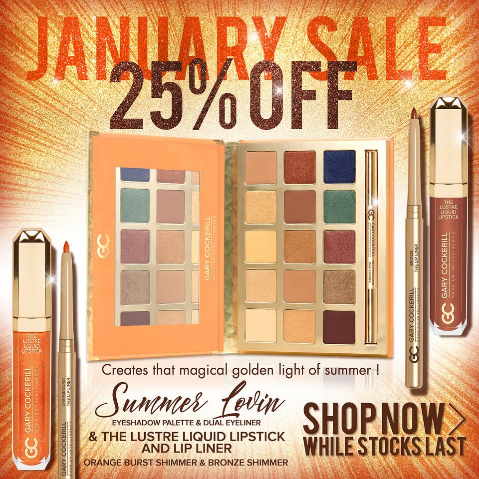 WEBSITE january sale summer lovin advert