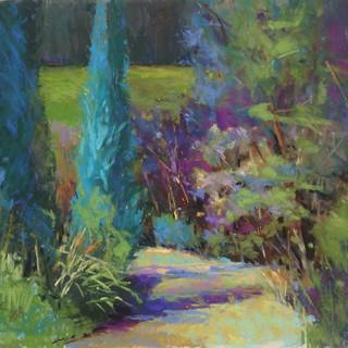 Garden Path, Pastel (14x16.5)