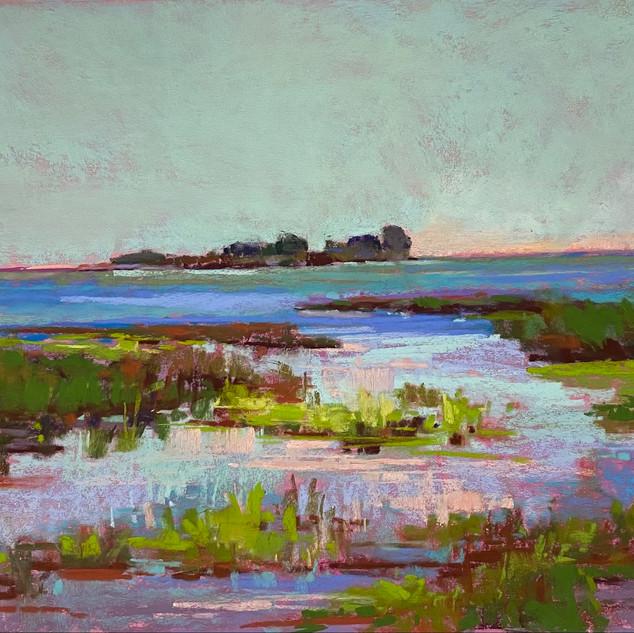 Anclam Marsh Baileys Harbor, Pastel - 17x20 (19x21)