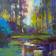Woodland Reflections, Pastel - 17x18 (21x20)
