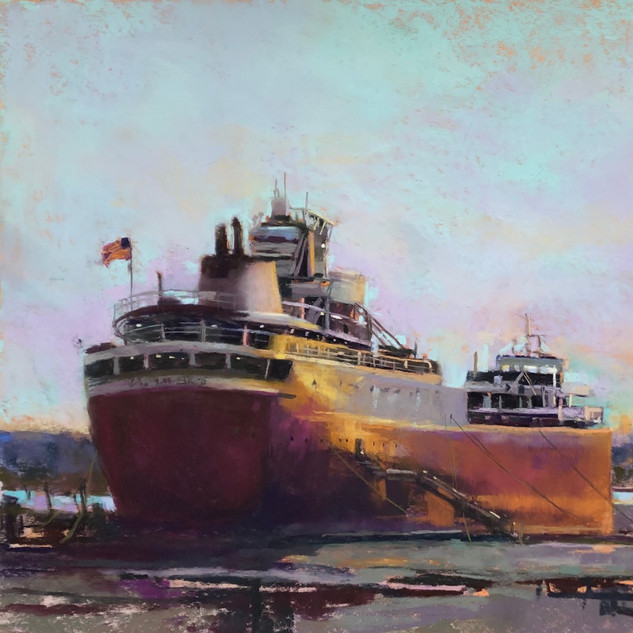 Evening Light on the Wilfred Sykes (18x24)