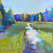 Morning Light Reiboldt's Creek, Pastel - 21x27 (27x33)