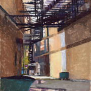 Off Dearborn, Pastel (19x17.5)