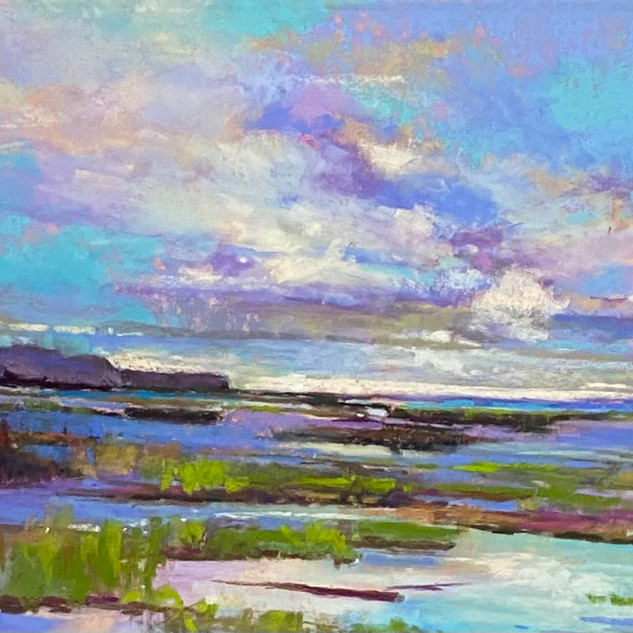 Moonlight Bay Marsh, Pastel - 12x16 (18x22)