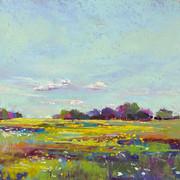 Golden Fields Clay Banks, Pastel - 11x14 (19x22)
