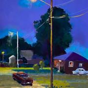 Night Glow, Pastel - 13x10 (21x18)