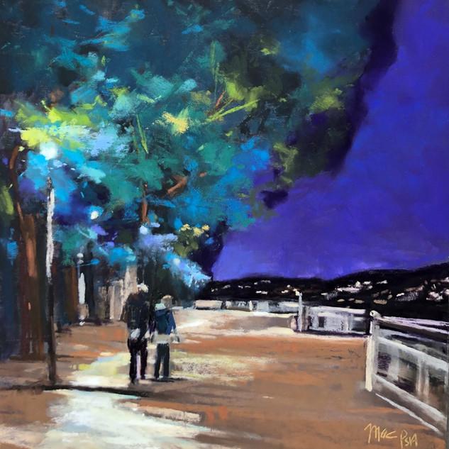Evening Walk Nocturne (11x11)