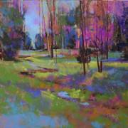 Spring at Heins Creek, Pastel (11x11)