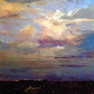Evening Sky Over Beach Harbor (SOLD)