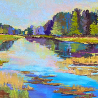 Reflections on Three Springs, Pastel - 27x34 (47x54)