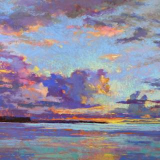 Ephraim Sunset, Pastel -17x23 (28x34)