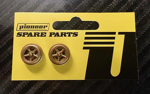 Pioneer Street Car Torq Thrust Rear Wheels - All Gold