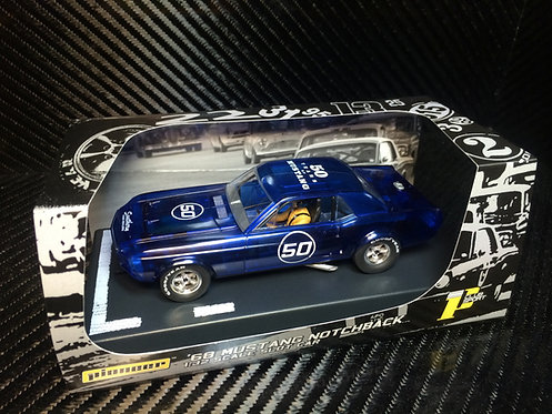 P052 Pioneer 1968 Mustang Notchback, Blue X-Ray, '50th Anniversary'