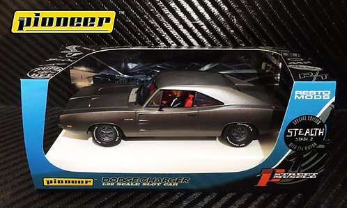 P092 Pioneer 1969 Dodge Charger, Grey STEALTH Stage 2, 426 Hemi