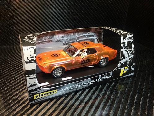 P053 Pioneer 1968 Mustang Notchback, Neon X-Ray, '50th Anniversary'