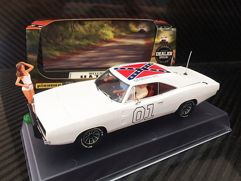 P026-DS Pioneer Dodge Charger White 'General Lee' Dealer Special