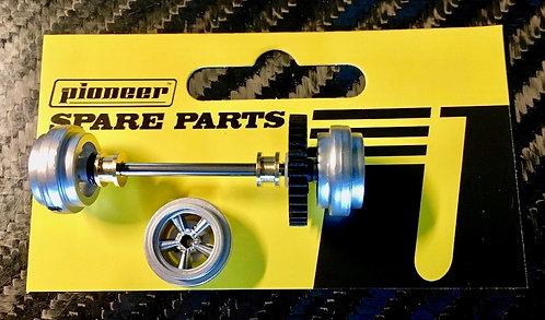Pioneer American Racing Rear Axle Assembly - All Silver