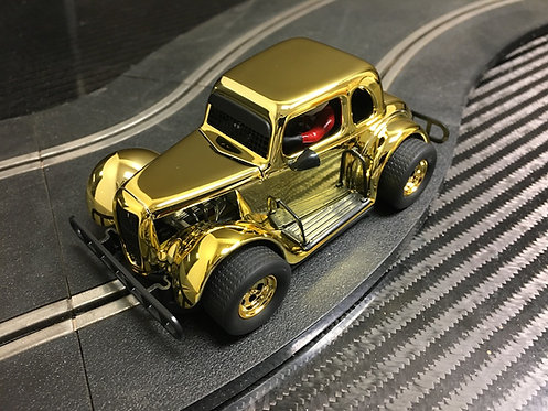 P122-DS Pioneer '34 Ford Coupe Legends Racer, Gold 'Smokey Chromie'
