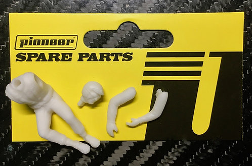 Pioneer Slot Car Unpainted Race Driver Figure - FD200128