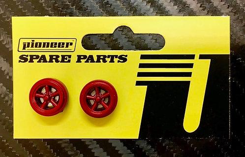 Pioneer Street Torq Thrust Rear Wheels - Metallic Red