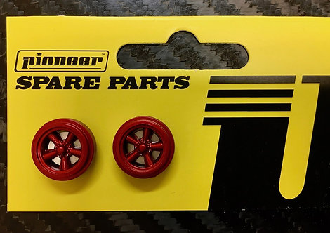 Pioneer Street Torq Thrust Front Wheels - Metallic Red