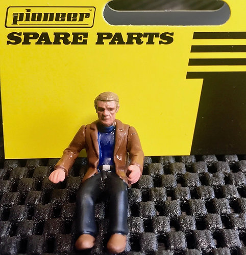Pioneer Slot Car Steve McQueen Painted Driver Figure - FD201331