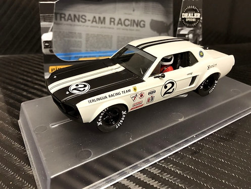 P132-DS Pioneer 1968 Mustang Trans-Am #2, White, Dealer Special