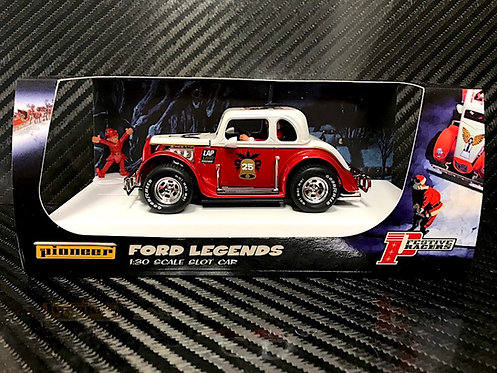 P118 Pioneer Santa Legends Racer, '34 Ford Coupe, Candy Cane Red/White