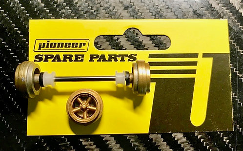 Pioneer Street Car Front Axle Assembly - All Gold