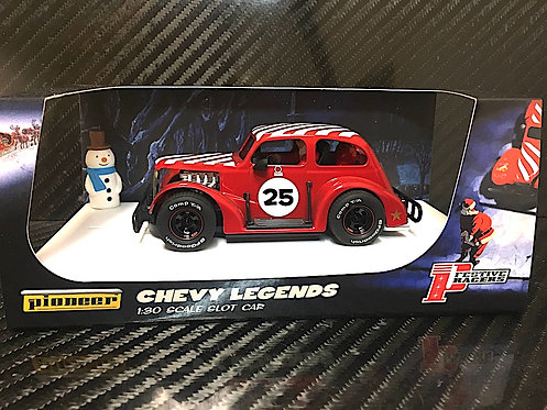 P080 Pioneer Santa Legends Racer, '37 Chevy Sedan 'Candy Cane Red'