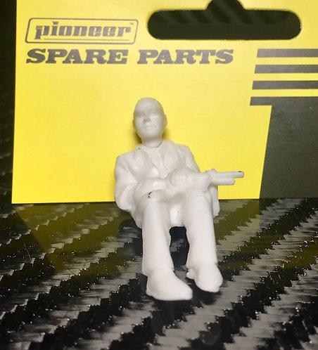 Pioneer Slot Car Unpainted Passenger Figure - FP200149
