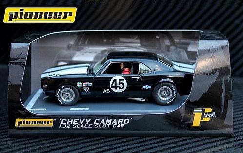 P059 Pioneer 1968 Black Chevrolet Camaro Z-28 Club Sport #45