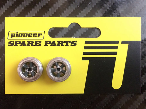 Pioneer American Racing Torq Thrust Rear Wheels  - Silver/Dark Grey