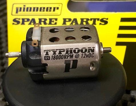 Pioneer Standard QS TYPHOON Motor (Splined Shaft) 18000 rpm at 12vDC