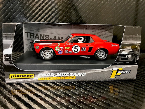 P112 Pioneer 1968 Trans-Am Mustang, Red #5, 'Jim West'
