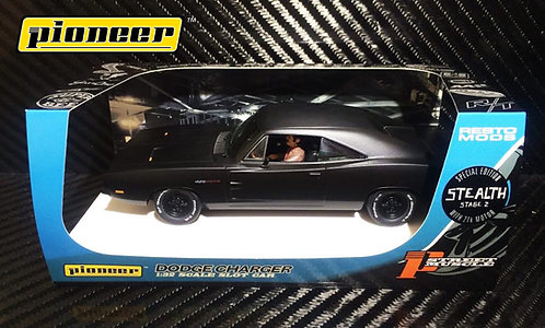 P091 Pioneer 1969 Dodge Charger, Black STEALTH Stage 2, 426 Hemi