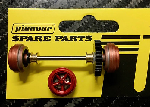 Pioneer Street Car Rear Axle Assembly - Metallic Red