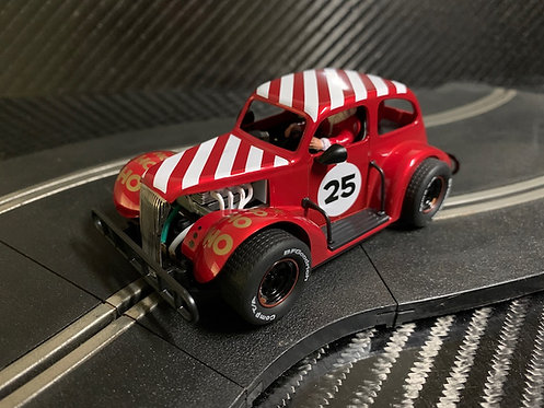 P080 Pioneer Santa Legends Racer, '37 Chevy Sedan, Candy Cane Red