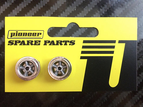 Pioneer American Racing Torq Thrust Rear Wheels - Chrome/Dark Silver