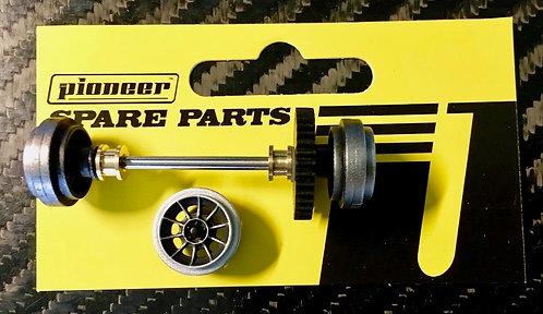 Pioneer General Lee Rear Axle Assembly - 'Vector' American Racing Wheels
