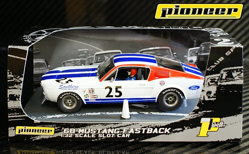 P029 Pioneer Mustang Fastback SFD Team Car #25 White