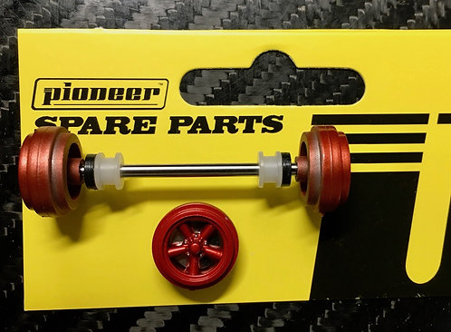 Pioneer Street Car Front Axle Assembly - Metallic Red