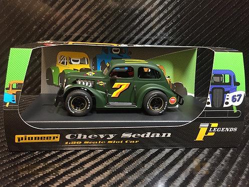 P078 Pioneer Legends Racer, '37 Chevy Sedan, Green #7