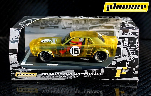 P046 Pioneer Notchback Mustang, X-Ray Racer, Yellow #16